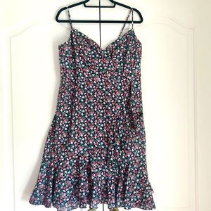 Liberty Print Fitted Dress size 16 J. Crew
